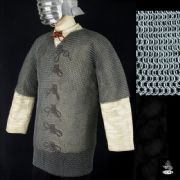 Hauberk Half Sleeve Butted Mild Steel Chainmail Shirt - CODE 10